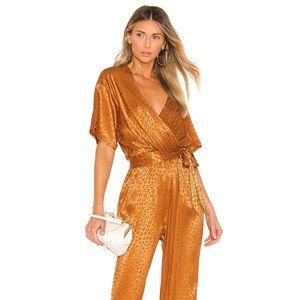 joie Tau Copper/Gold Leopard Jumpsuit